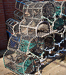 Lobster pots Scarborough, Yorkshire, England