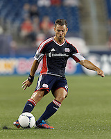 New England Revolution defender Flo Lechner (2) passes the ball. In a Major League Soccer (MLS) match, the New England Revolution defeated Columbus Crew, 2-0, at Gillette Stadium on September 5, 2012.