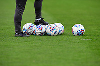 A close up of Mitre Delta match footballs<br /> <br /> Photographer Chris Vaughan/CameraSport<br /> <br /> The EFL Sky Bet League Two - Lincoln City v Chesterfield - Saturday 7th October 2017 - Sincil Bank - Lincoln<br /> <br /> World Copyright &copy; 2017 CameraSport. All rights reserved. 43 Linden Ave. Countesthorpe. Leicester. England. LE8 5PG - Tel: +44 (0) 116 277 4147 - admin@camerasport.com - www.camerasport.com