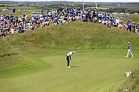 Ross Fisher (ENG) putts on the 5th green during Thursday's Round 1 of the Dubai Duty Free Irish Open 2019, held at Lahinch Golf Club, Lahinch, Ireland. 4th July 2019.<br /> Picture: Eoin Clarke | Golffile<br /> <br /> <br /> All photos usage must carry mandatory copyright credit (© Golffile | Eoin Clarke)