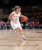 STANFORD, CA - January 8, 2011: Jeanette Pohlen of the Stanford Cardinal women's basketball team during Stanford's game against Arizona State at Maples Pavilion. Stanford won 82-35.
