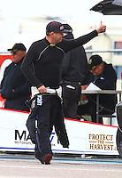 Aug 20, 2016; Brainerd, MN, USA; NHRA top fuel driver Richie Crampton during qualifying for the Lucas Oil Nationals at Brainerd International Raceway. Mandatory Credit: Mark J. Rebilas-USA TODAY Sports
