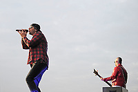 DERBY, ENGLAND - JUNE 8: M Shadows and Johnny Christ of 'Avenged Sevenfold' performing at Download Festival, Donington Park on June , 2018 in Derby<br /> CAP/MAR<br /> &copy;MAR/Capital Pictures