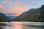 Hells Canyon NRA, Oregon/Idaho:<br /> Snake river reflecting dawn colors near Tyrone creek.