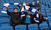 Brighton & Hove Albion fans<br /> <br /> Photographer David Horton/CameraSport<br /> <br /> The Premier League - Brighton and Hove Albion v Liverpool - Saturday 12th January 2019 - The Amex Stadium - Brighton<br /> <br /> World Copyright © 2018 CameraSport. All rights reserved. 43 Linden Ave. Countesthorpe. Leicester. England. LE8 5PG - Tel: +44 (0) 116 277 4147 - admin@camerasport.com - www.camerasport.com