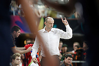 Slovenia's coach Zdovc Jure during 2014 FIBA Basketball World Cup Quarter-Finals match.September 9,2014.(ALTERPHOTOS/Acero)