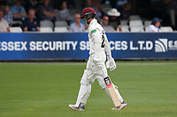Tom Abell of Somerset leaves the field having been dismissed for 0 during Essex CCC vs Somerset CCC, Specsavers County Championship Division 1 Cricket at The Cloudfm County Ground on 25th June 2019
