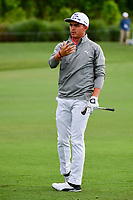 Rickie Fowler (USA) reacts to his approach shot on 10 during round 1 of the Shell Houston Open, Golf Club of Houston, Houston, Texas, USA. 3/30/2017.<br /> Picture: Golffile | Ken Murray<br /> <br /> <br /> All photo usage must carry mandatory copyright credit (&copy; Golffile | Ken Murray)