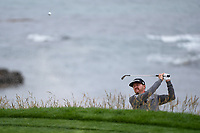 Jimmy Walker (USA) hits from the trap on 8 during round 1 of the 2019 US Open, Pebble Beach Golf Links, Monterrey, California, USA. 6/13/2019.<br /> Picture: Golffile | Ken Murray<br /> <br /> All photo usage must carry mandatory copyright credit (© Golffile | Ken Murray)