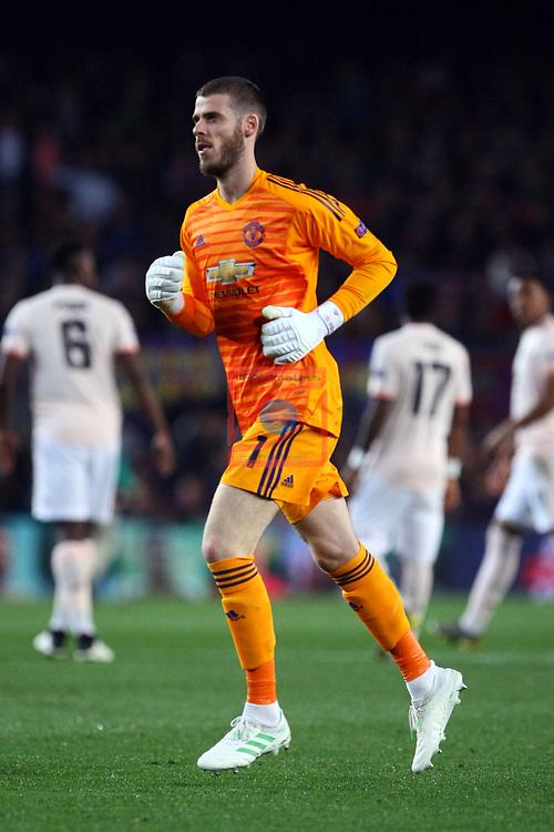 UEFA Champions League 2018/2019.<br /> Quarter-finals 2nd leg.<br /> FC Barcelona vs Manchester United: 3-0.<br /> David de Gea.