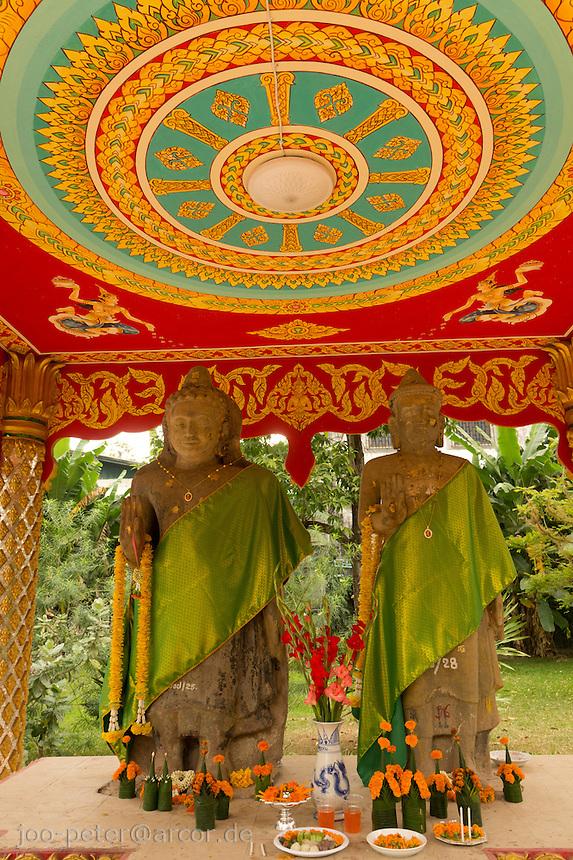 Buddhist shrine in Vietiane, Laos, 2012