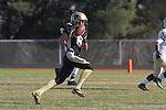 Palos Verdes, CA 10/28/11 - Matt Hezlep (Peninsula #6) in action during the Mira Costa - Peninsula varsity football game.