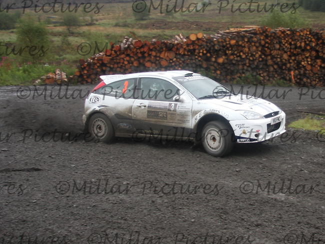 Euan Thorburn / Paul Beaton at Junction 9 on Craignell, Special Stage 1 of the Ian Broll Merrick Stages Rally 2012, Round 7 of the RAC MSA Scotish Rally Championship which was organised by Machars Car Club and Scottish Sporting Car Club and based in Wigtown on 1.9.12.