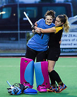 Action from the National Women's Association Under-18 Hockey Tournament match between Taranaki and Wellington at Twin Turfs in Clareville, New Zealand on Friday, 14 July 2017. Photo: Dave Lintott / lintottphoto.co.nz