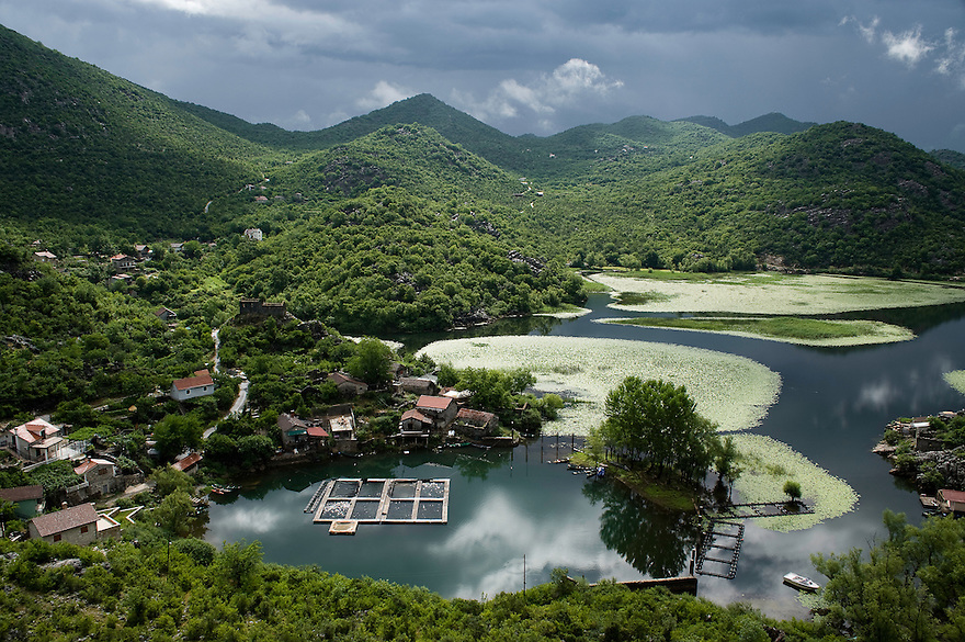 Karuc village at Lake Skadar, Lake Skadar National Park, Montenegro