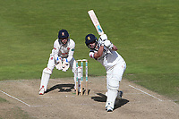 Matthew Lamb in batting action for Warwickshire as Adam Wheater looks on from behind the stumps during Warwickshire CCC vs Essex CCC, Specsavers County Championship Division 1 Cricket at Edgbaston Stadium on 11th September 2019