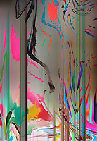 Abstract backgrounds pattern of distorted merging colors