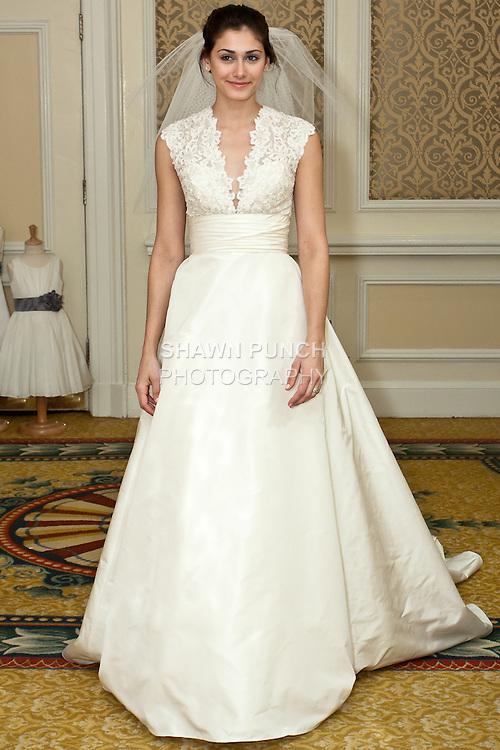 Watters fall 2010 escalante dress shawn punch for Taffeta wedding dress with pockets