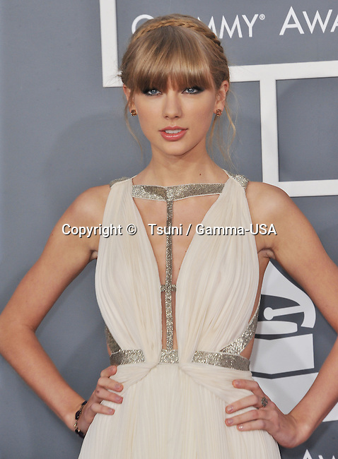 Taylor Swift at  the 55th Ann. Grammy Awards 2013 at the Staples Center in Los Angeles.