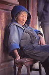 China, a Naxi woman in Lijiang, Yunnan Province