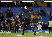 11th January 2020; Stamford Bridge, London, England; English Premier League Football, Chelsea versus Burnley; Chelsea Manager Frank Lampard celebrating in front of the Chelsea fans after full time - Strictly Editorial Use Only. No use with unauthorized audio, video, data, fixture lists, club/league logos or 'live' services. Online in-match use limited to 120 images, no video emulation. No use in betting, games or single club/league/player publications