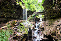 Watkins Glen is a famous place for flowing water, high rock walls, and a spindly yet reliable trail, and is internationally known. On both my visits there I heard multiple languages being spoken, Chinese, German, French, and more, and the park can be very crowded at times. They all come to see a very unique and wondrous slice of nature on a mile long hike in one of the most scenic places in the eastern US with nineteen waterfalls along Glen Creek. There is much more scenery around this park in the Finger Lakes region of New York, so plan to stay, especially if you enjoy wineries, lakes, and landscapes.<br />