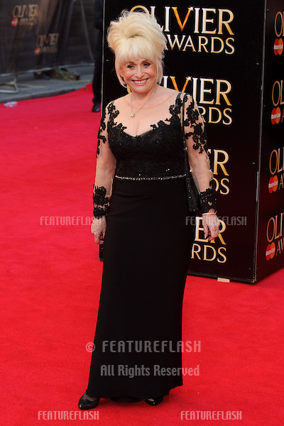 Barbara Windsor arrives for the Laurence Olivier Awards 2014 at the Royal Opera House, Covent Garden, London. 13/04/2014 Picture by: Steve Vas / Featureflash