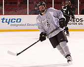 Spencer Young (PC - 21) - The Providence College Friars practiced on the rink at Fenway Park on Friday, January 6, 2017.