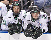 Ryan Duncan, TJ Oshie - The Boston College Eagles defeated the University of North Dakota Fighting Sioux 6-5 on Thursday, April 6, 2006, in the 2006 Frozen Four afternoon Semi-Final at the Bradley Center in Milwaukee, Wisconsin.