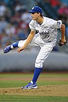 Omaha Storm Chasers pitcher Jake Odorizzi #27 follows through during the game against the Reno Aces at Werner Park on August 3, 2012 in Omaha, Nebraska.(Dennis Hubbard/Four Seam Images)