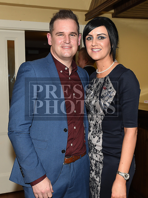 Trevor and Sandra Dolan pictured at the Naomh Fionnbarra JFC celebration and presentation night in the Grove House Dunleer. Photo:Colin Bell/pressphotos.ie