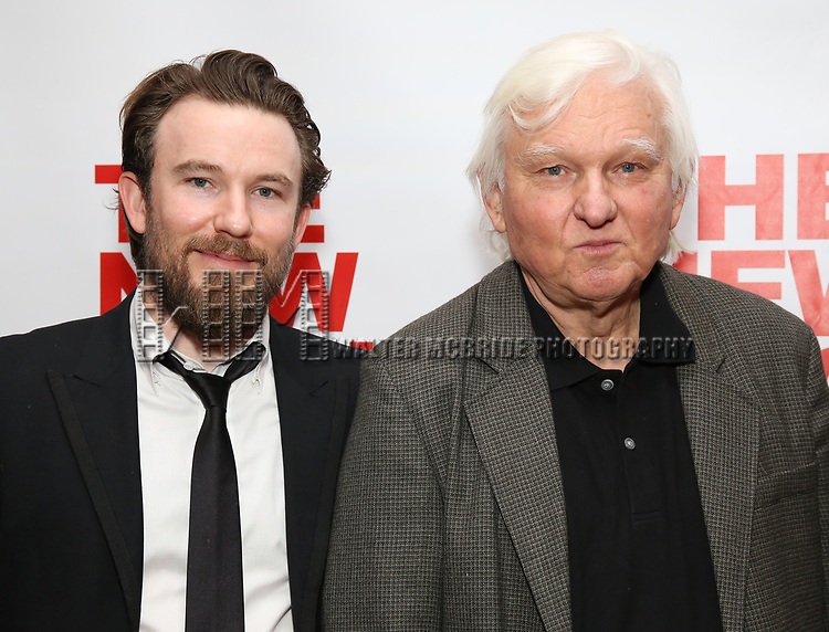 "Michael Rabe and David Rabe attends The New Group presents the New York Premiere Opening Night of David Rabe's for ""Good for Otto"" on March 8, 2018 at the Green Fig Urban Eatery,  in New York City."