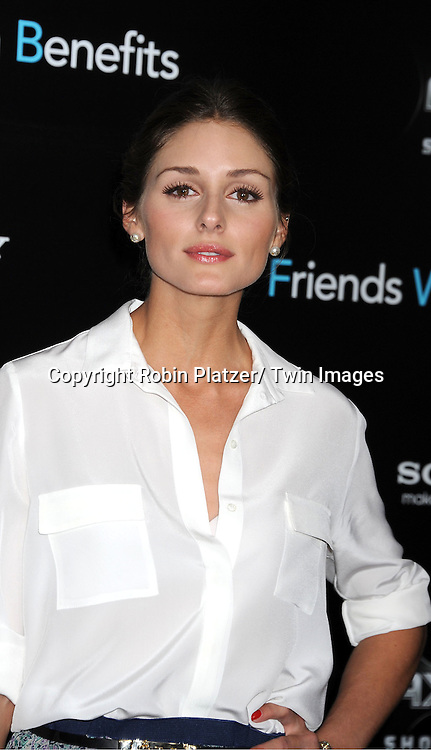 "Olivia Palermo attending the New York Premiere of ""Freinds With Benefits"" on July 18, 2011 at The Ziegfeld Theatre in New York City. The movie stars Justin Timberlake, Mila Kunis, Emma Stone, Patricia Clarkson, Jenna Elfman and Bryan Greenberg."