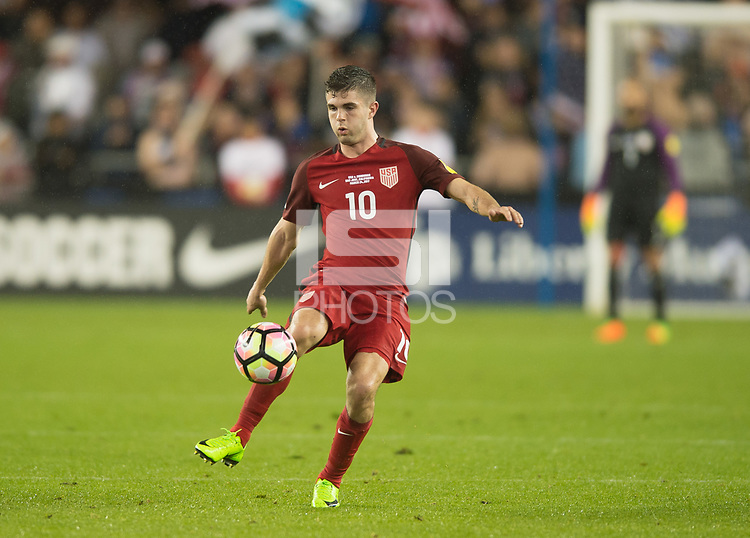 San Jose, CA - March 24, 2017: The U.S. Men's National team go on to defeat Honduras 6-0 during their 2018 FIFA World Cup Qualifying Hexagonal match at Avaya Stadium.