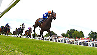 Winner of The Bathwick Tyres Maiden Stakes, La Rav ridden by Jamie Spencer and trained by Luca Cumani during Afternoon Racing at Salisbury Racecourse on 13th June 2017