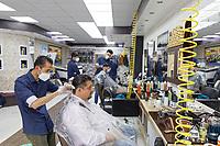 2020 07 13 Barbers reopen in Swansea, Wales, UK