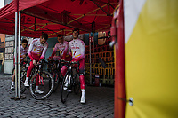 Team Cofidis pre race team presentation<br /> <br /> 103rd Ronde van Vlaanderen 2019<br /> One day race from Antwerp to Oudenaarde (BEL/270km)<br /> <br /> ©kramon