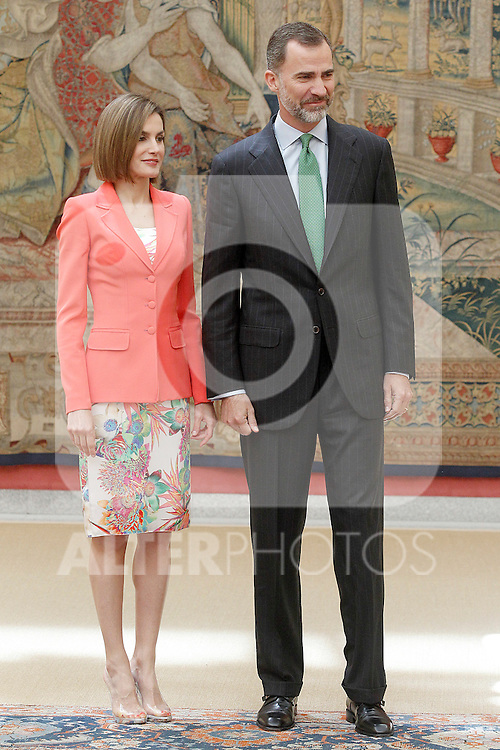King Felipe IV of Spain and Queen of Spain Letizia presided the commemoration of the bicentennial of the Delegation of the Greatness of Spain. June 16,2015. (ALTERPHOTOS/Acero)