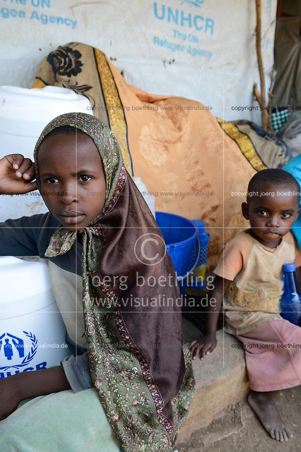 KENYA, Turkana, refugee camp Kakuma for 160.000 refugees, Kakuma III reception centre for arriving south sudanese refugees / KENIA, Turkana, Fluechtlingslager Kakuma fuer 160.000 Fluechtlinge, Kakuma III, Aufnahme fuer Fluechtlinge aus dem Sued-Sudan
