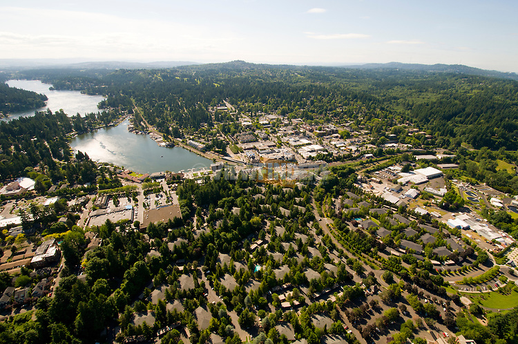 Aerial View of Lake Oswego, Oregon
