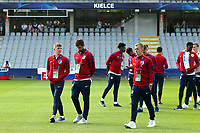 England players inspect the pitch before Slovakia Under-21 vs England Under-21, UEFA European Under-21 Championship Football at The Kolporter Arena on 19th June 2017