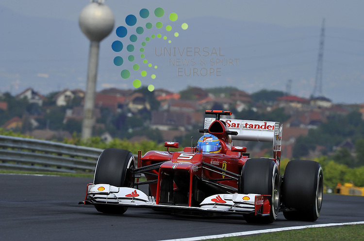 Formula 1 Race 11, GP of Hungary, Budapest - 27.-29. Juli 2012.Fernando Alonso (ESP),  Scuderia Ferrari ..Picture :Hasan Bratic/Universal News And Sport (Europe) 27 July 2012