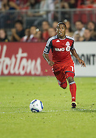 13 August 2011: Toronto FC forward Joao Plata #7 in action during a game between Real Salt Lake and Toronto FC at BMO Field in Toronto..Toronto FC won 1-0.