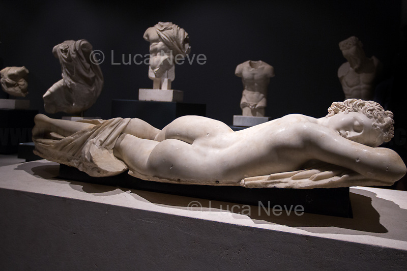 Ermafrodito (Ermes and Afrodite) dormiente.<br />