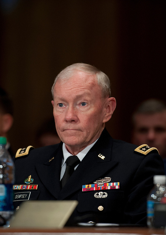 UNITED STATES - June 11: Gen. Martin E. Dempsey, Chairman of the Joint Chiefs of Staff during the Senate Appropriations Committee hearing on Defense Department Leadership on June 11, 2013. (Photo By Douglas Graham/CQ Roll Call)