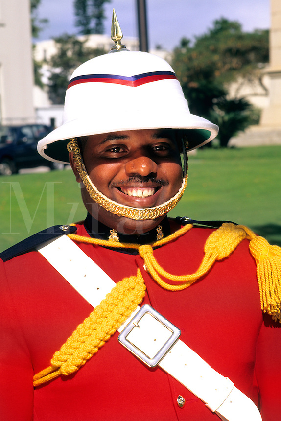Welcome to Bermuda Colorful Marching Regiment Band at Government House in Hamilton Bermuda