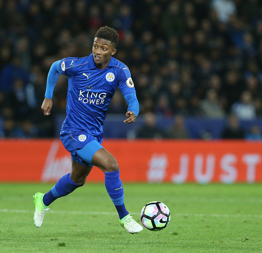 Leicester City's Demarai Gray <br /> <br /> Photographer Stephen White/CameraSport<br /> The Premier League - Leicester City v Sunderland  - Tuesday 4th April 2017 - King Power Stadium - Leicester<br /> <br /> World Copyright &copy; 2017 CameraSport. All rights reserved. 43 Linden Ave. Countesthorpe. Leicester. England. LE8 5PG - Tel: +44 (0) 116 277 4147 - admin@camerasport.com - www.camerasport.com
