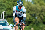 SITTARD, NETHERLANDS - AUGUST 16: Kevin De Weert of Belgium riding for Omega Pharma-Quick Step competes during stage 5 of the Eneco Tour 2013, a 13km individual time trial from Sittard to Geleen, on August 16, 2013 in Sittard, Netherlands. (Photo by Dirk Markgraf/www.265-images.com)