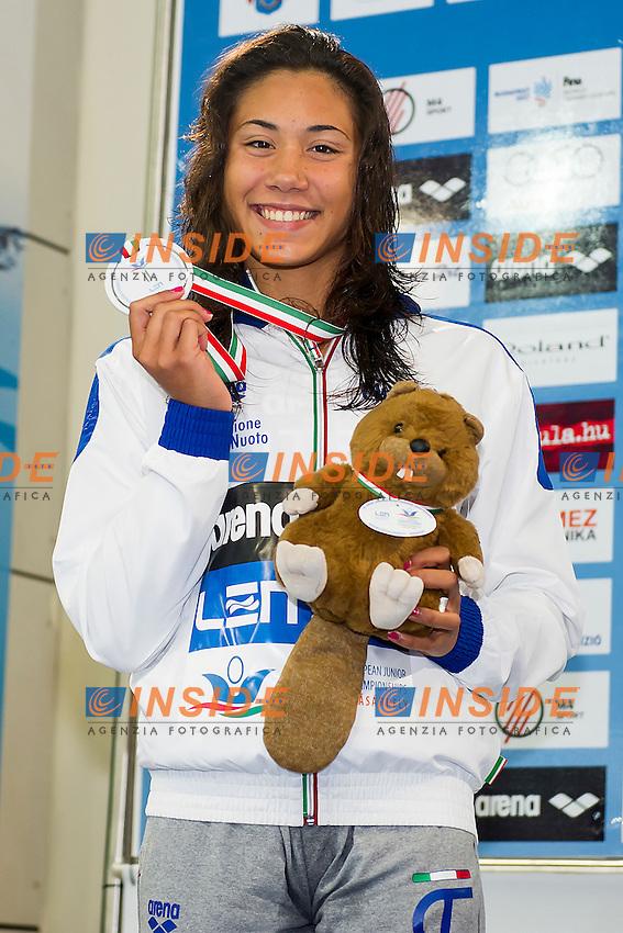 Quaglieri Tania ITA<br /> 50 Backstroke Women Final Silver Medal<br /> LEN 43rd Arena European Junior Swimming Championships<br /> Hodmezovasarhely, Hungary <br /> Day03 08-07-2016<br /> Photo Andrea Masini/Deepbluemedia/Insidefoto