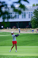 Marina Alex (USA) watches her second shot on 1 during Sunday's final round of the 72nd U.S. Women's Open Championship, at Trump National Golf Club, Bedminster, New Jersey. 7/16/2017.<br /> Picture: Golffile | Ken Murray<br /> <br /> <br /> All photo usage must carry mandatory copyright credit (&copy; Golffile | Ken Murray)